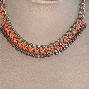 Jewelry - Gold Chain and Orange Statement Necklace